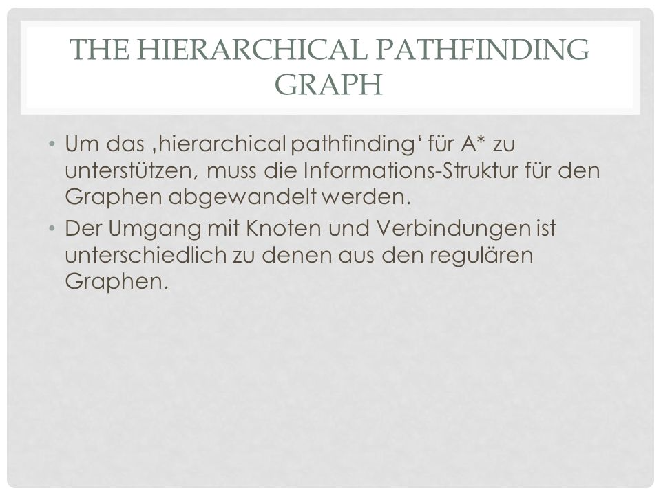 The hierarchical pathfinding graph