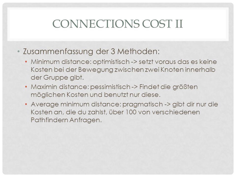 Connections Cost II Zusammenfassung der 3 Methoden: