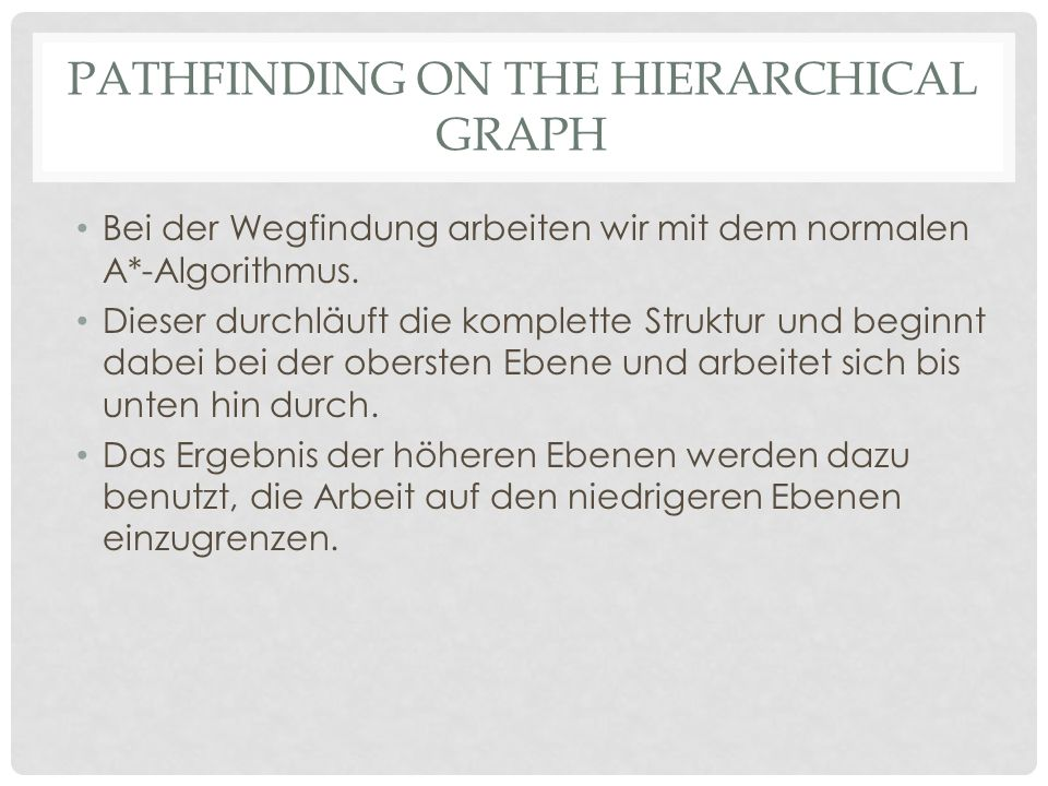 Pathfinding on the hierarchical graph