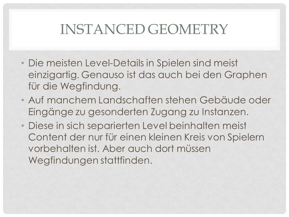 Instanced Geometry Die meisten Level-Details in Spielen sind meist einzigartig. Genauso ist das auch bei den Graphen für die Wegfindung.