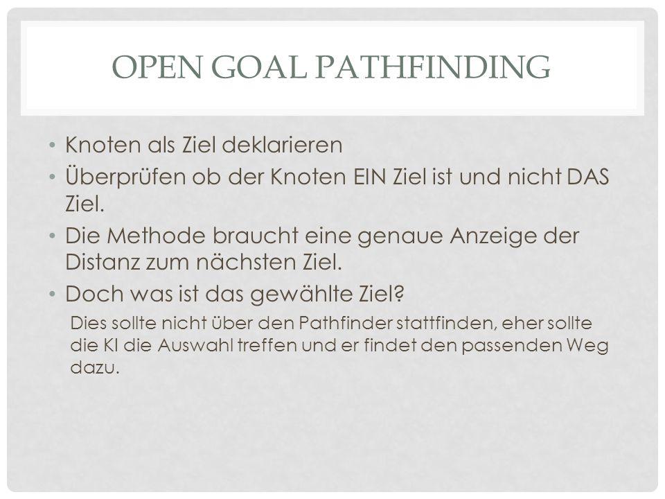 Open Goal Pathfinding Knoten als Ziel deklarieren