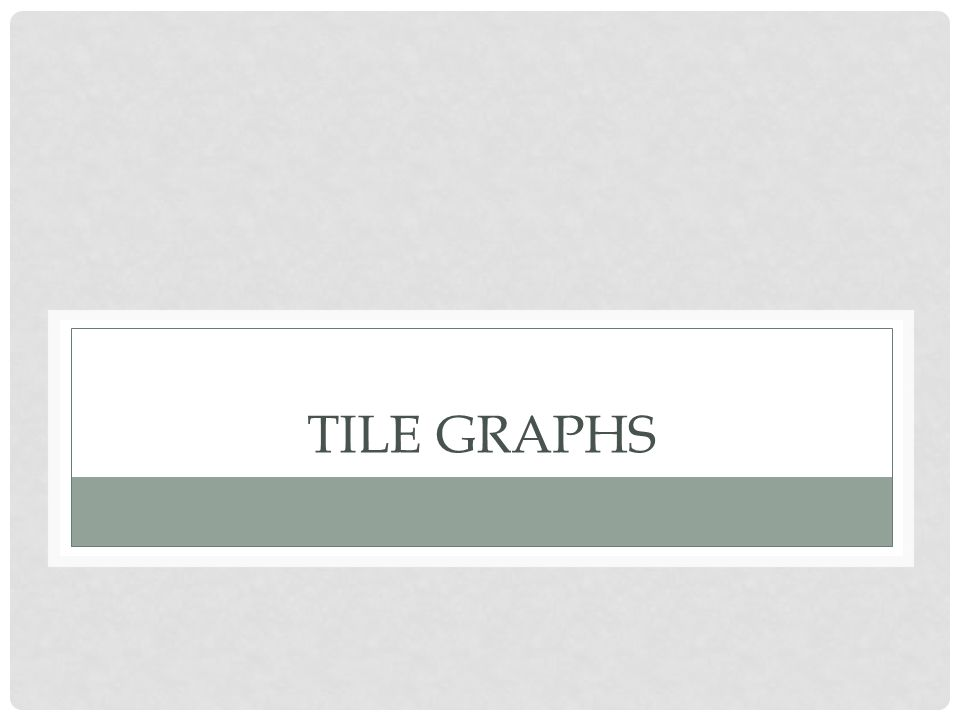 Tile graphs