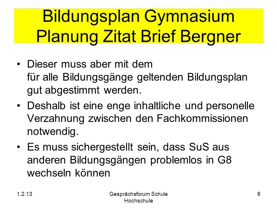 Bildungsplan Gymnasium Planung Zitat Brief Bergner