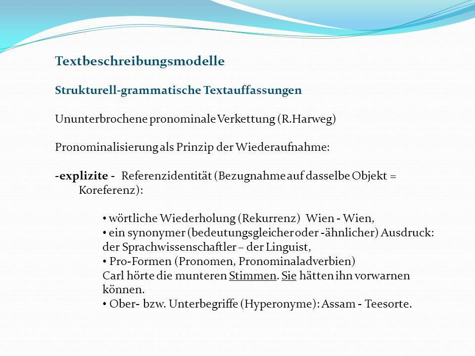 Textbeschreibungsmodelle
