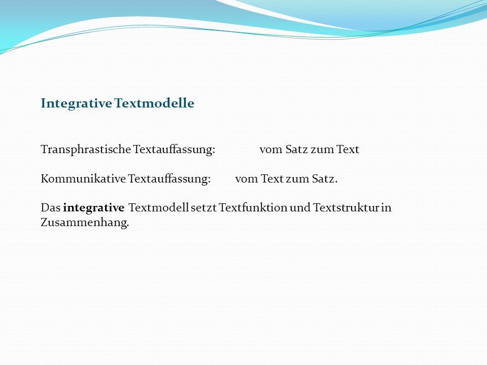 Integrative Textmodelle