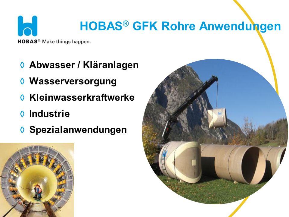 HOBAS® GFK Rohre Anwendungen