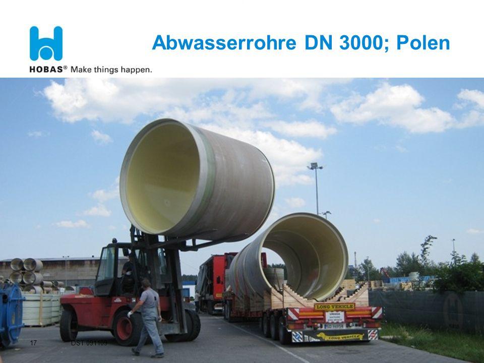 Abwasserrohre DN 3000; Polen