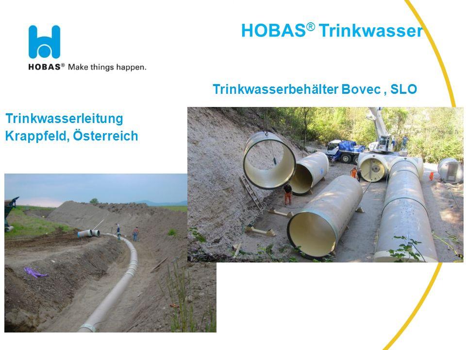 HOBAS® Trinkwasser Trinkwasserbehälter Bovec , SLO Trinkwasserleitung