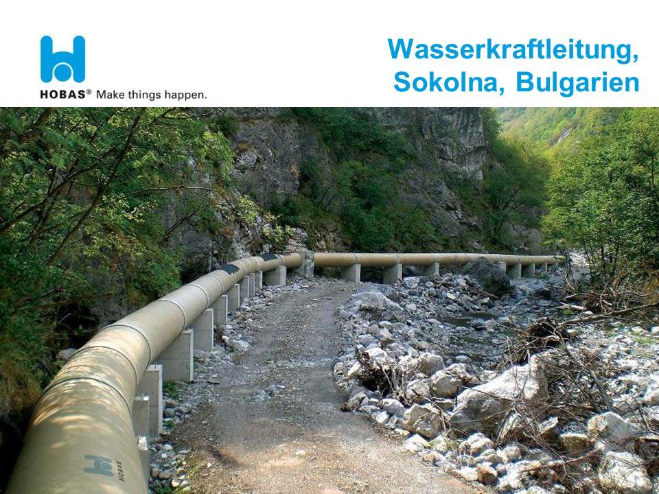 Wasserkraftleitung, Sokolna, Bulgarien