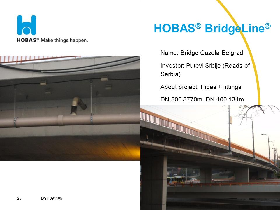 HOBAS® BridgeLine® Name: Bridge Gazela Belgrad