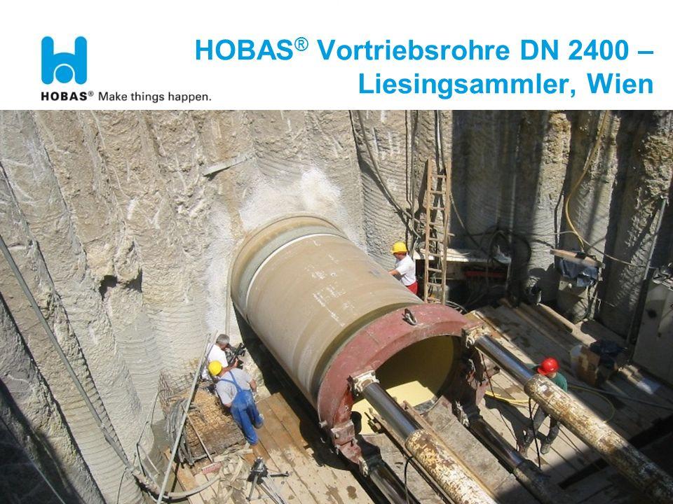 HOBAS® Vortriebsrohre DN 2400 – Liesingsammler, Wien