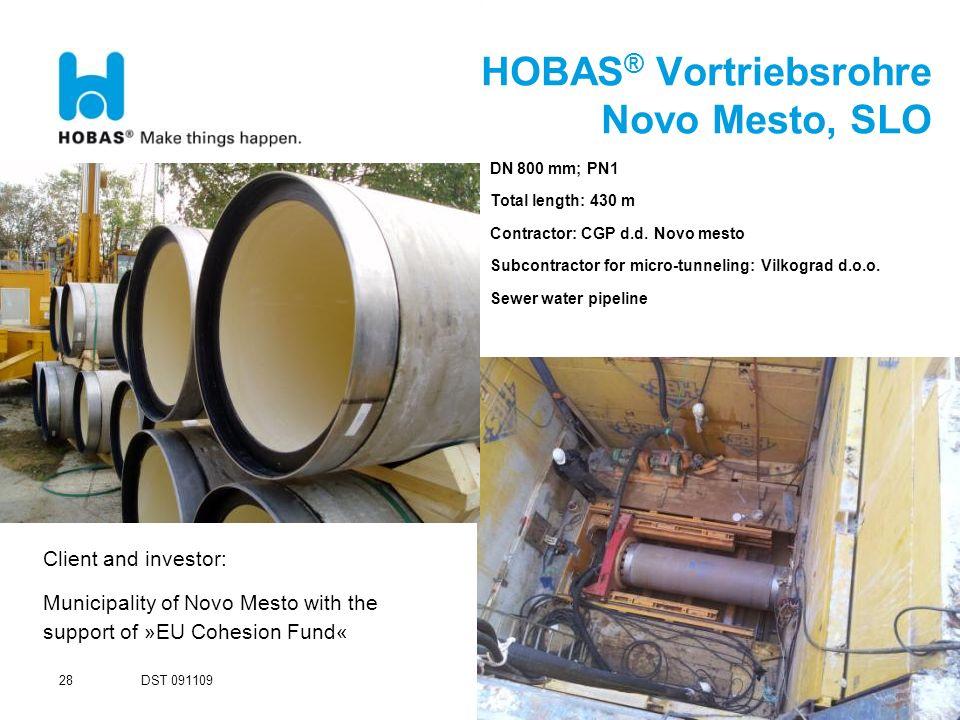 HOBAS® Vortriebsrohre Novo Mesto, SLO