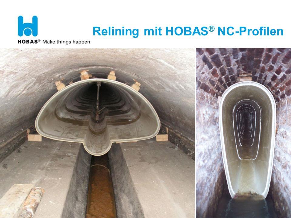 Relining mit HOBAS® NC-Profilen