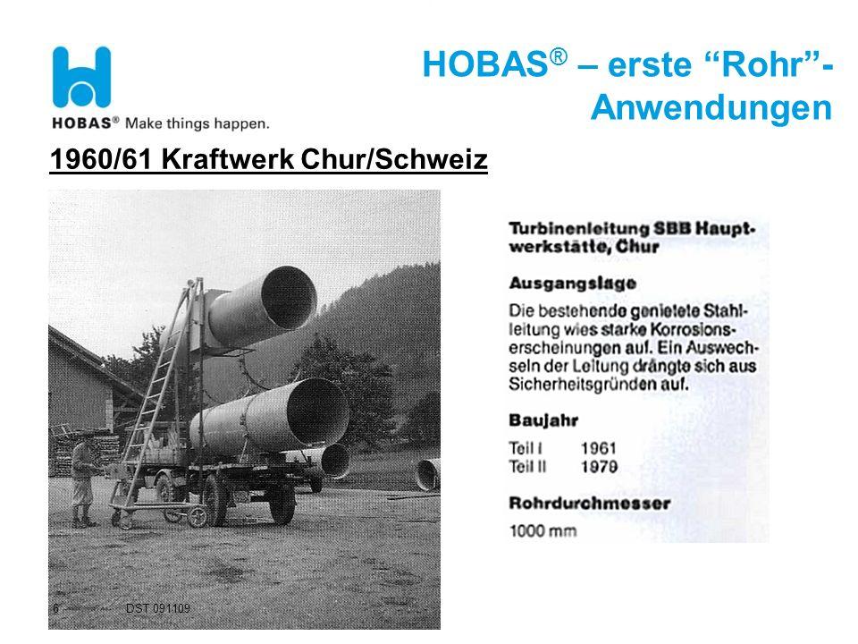 HOBAS® – erste Rohr -Anwendungen