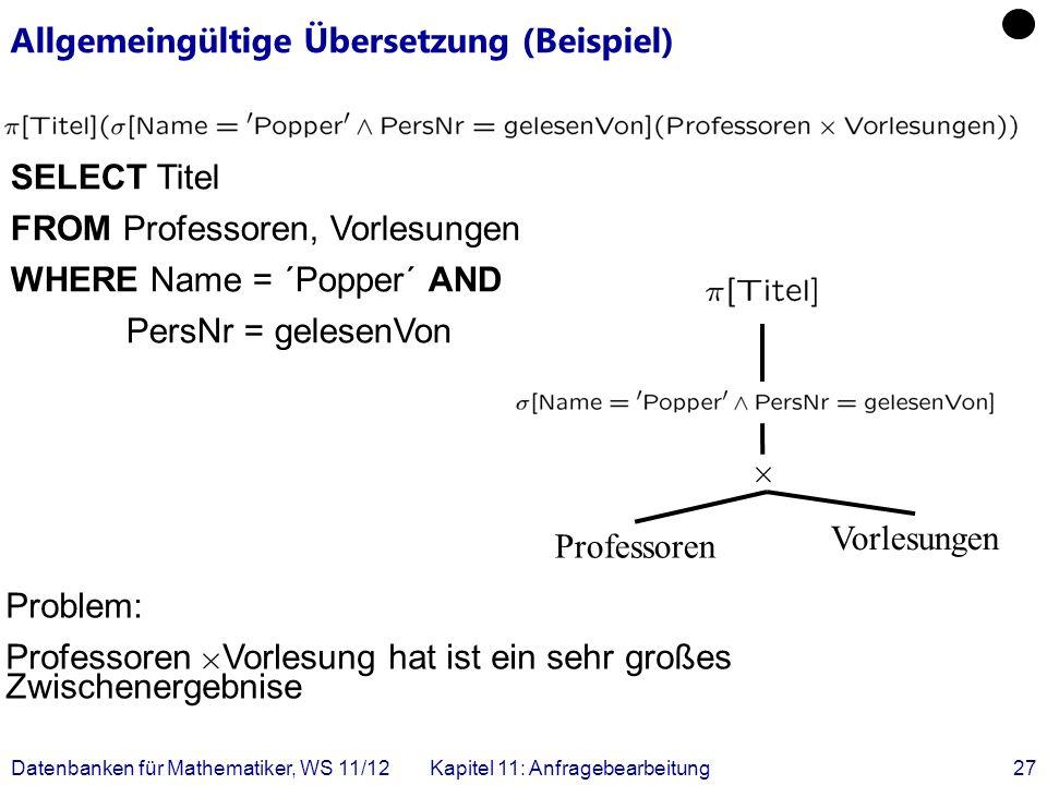 Allgemeingültige Übersetzung (Beispiel)