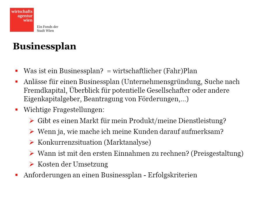Businessplan Was ist ein Businessplan = wirtschaftlicher (Fahr)Plan