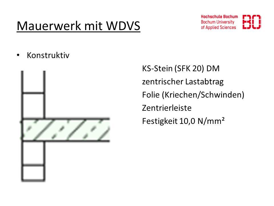 Mauerwerk mit WDVS Konstruktiv