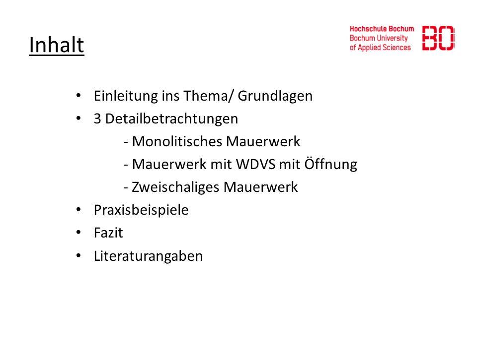 Inhalt Einleitung ins Thema/ Grundlagen 3 Detailbetrachtungen