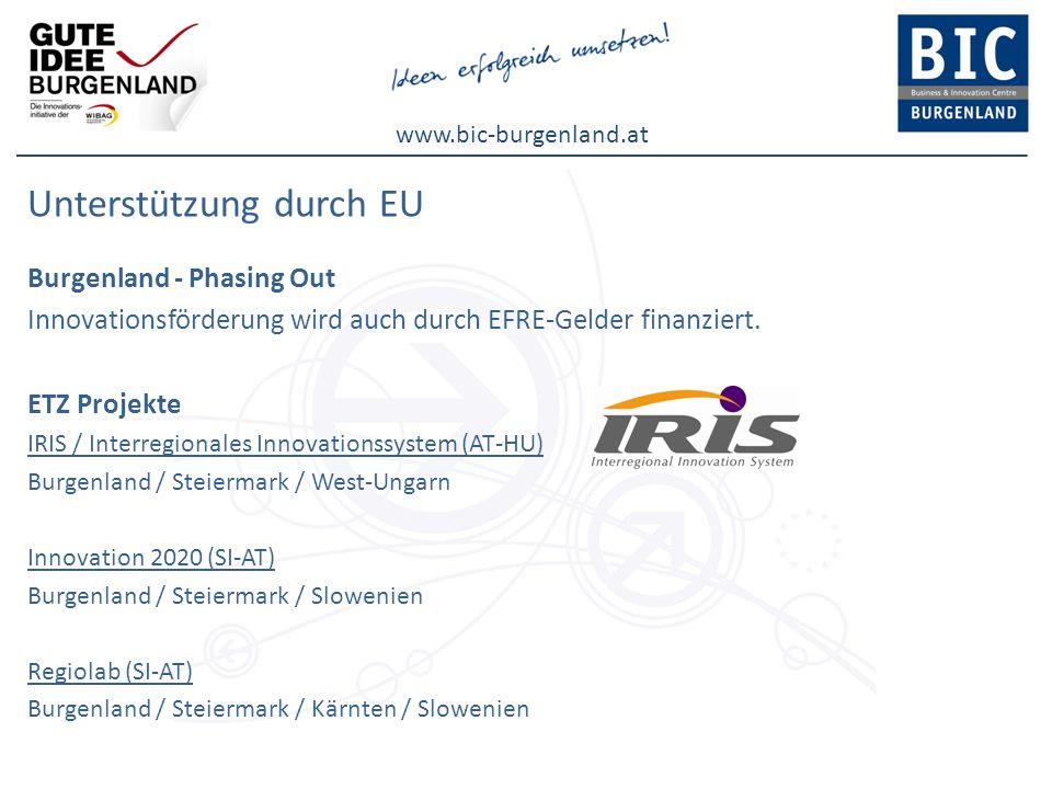 Unterstützung durch EU
