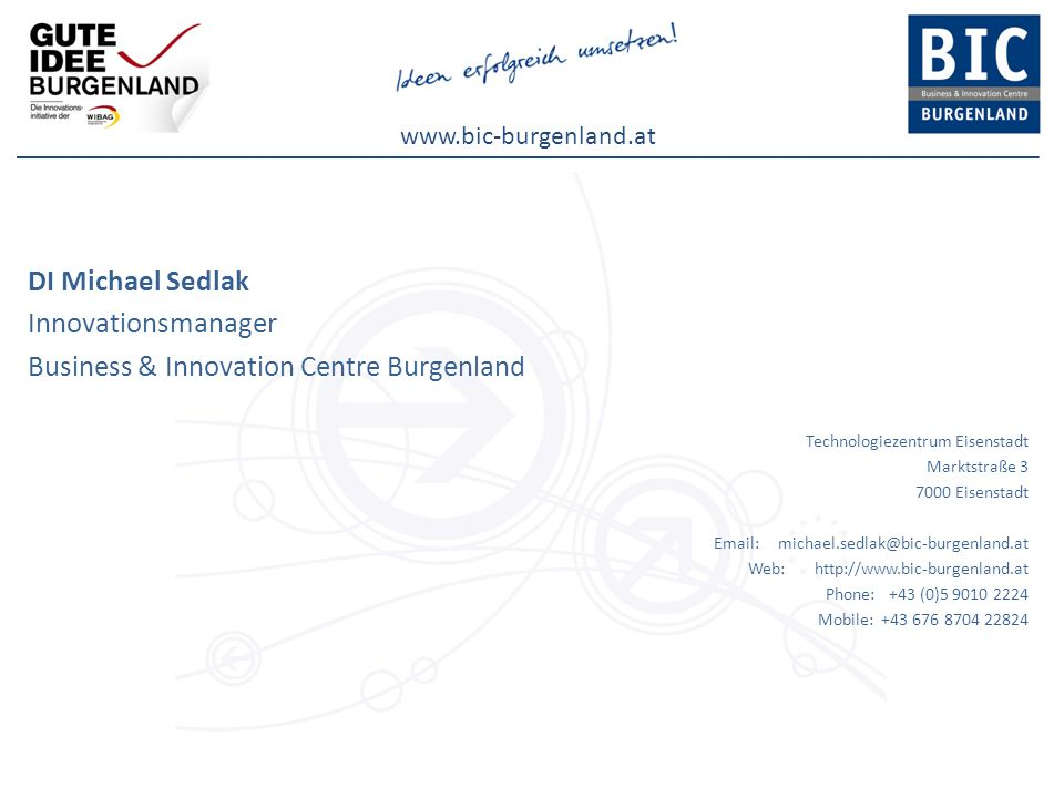 Business & Innovation Centre Burgenland