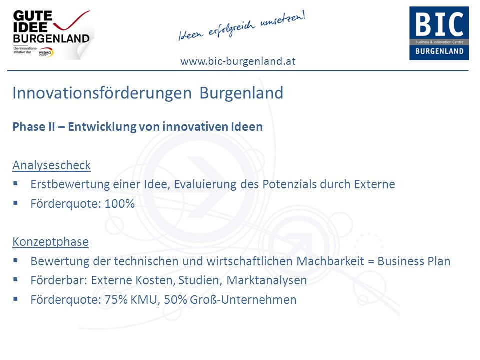 Innovationsförderungen Burgenland