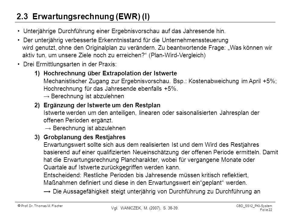 2.3 Erwartungsrechnung (EWR) (I)