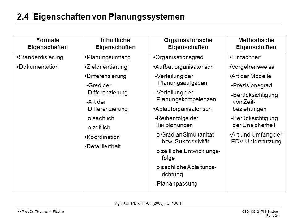 2.4 Eigenschaften von Planungssystemen