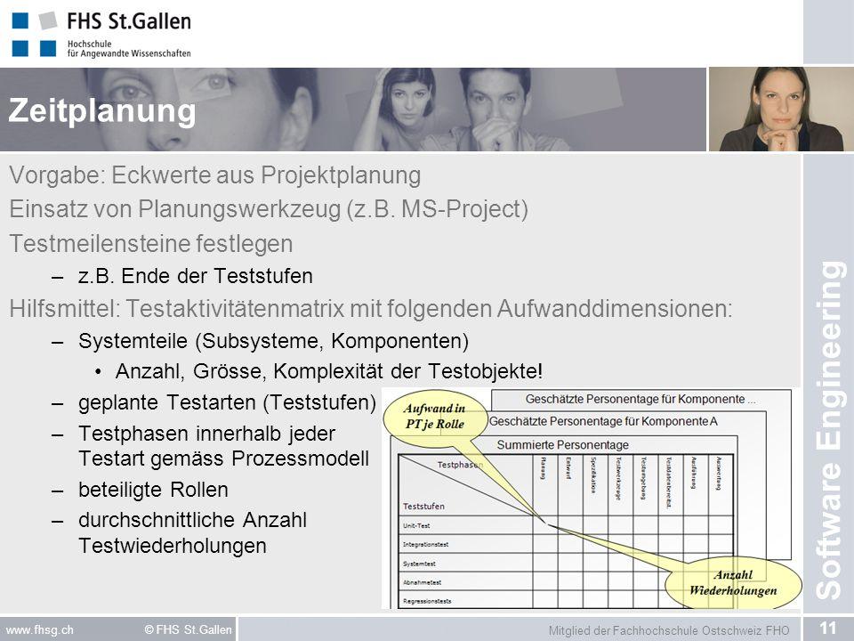 Zeitplanung Vorgabe: Eckwerte aus Projektplanung