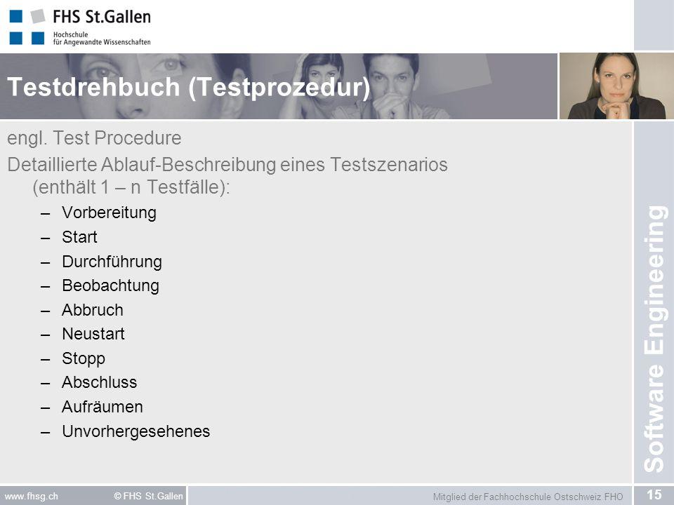 Testdrehbuch (Testprozedur)
