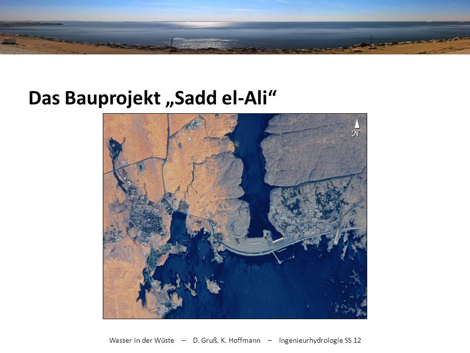 "Das Bauprojekt ""Sadd el-Ali"