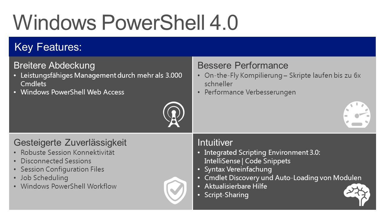 Windows PowerShell 4.0 Key Features: Breitere Abdeckung