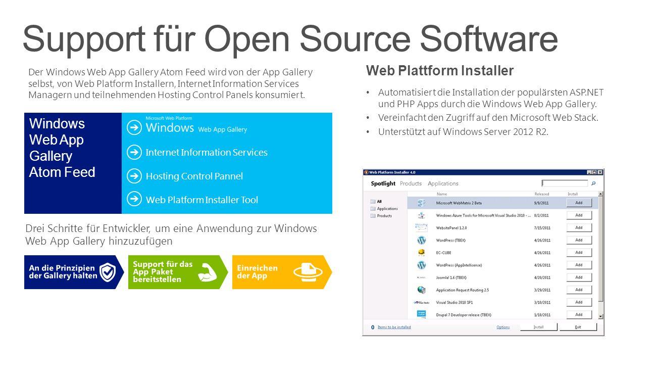 Support für Open Source Software