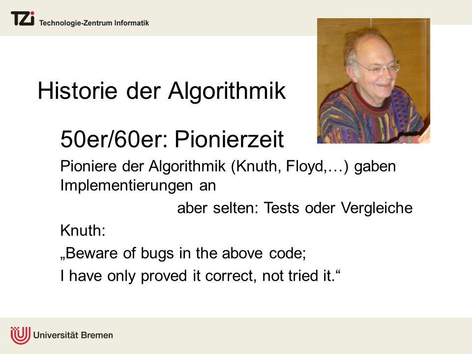 Historie der Algorithmik