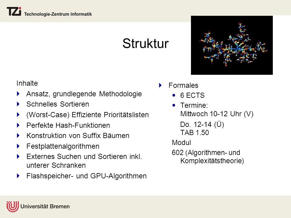 Struktur Inhalte Formales Ansatz, grundlegende Methodologie