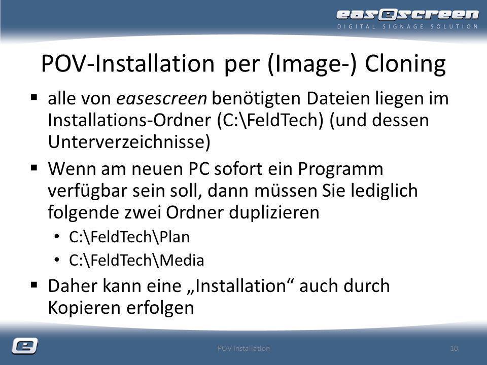 POV-Installation per (Image-) Cloning