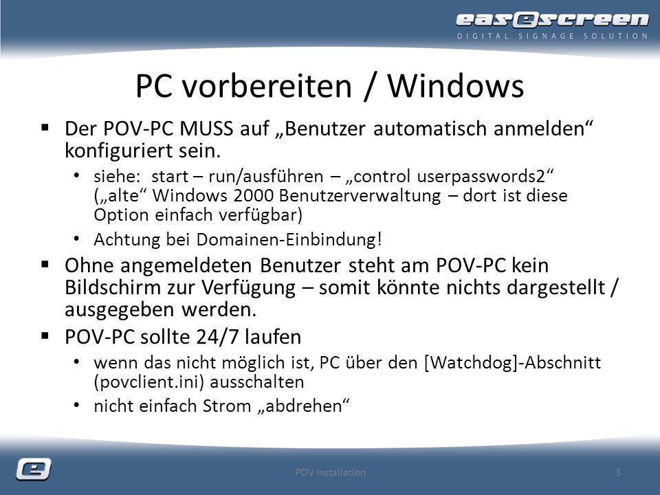 PC vorbereiten / Windows