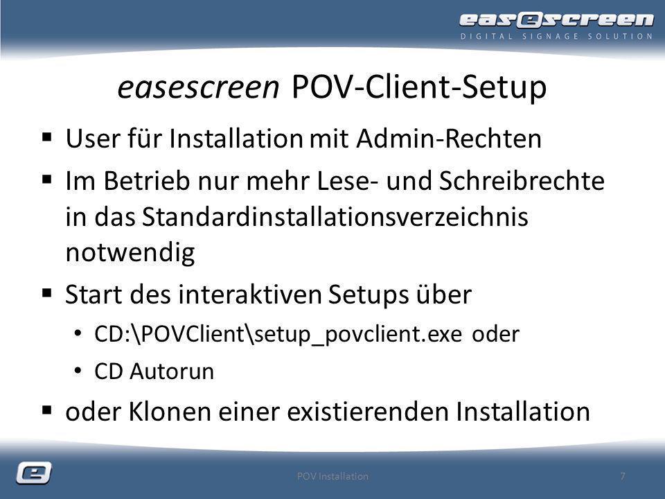 easescreen POV-Client-Setup