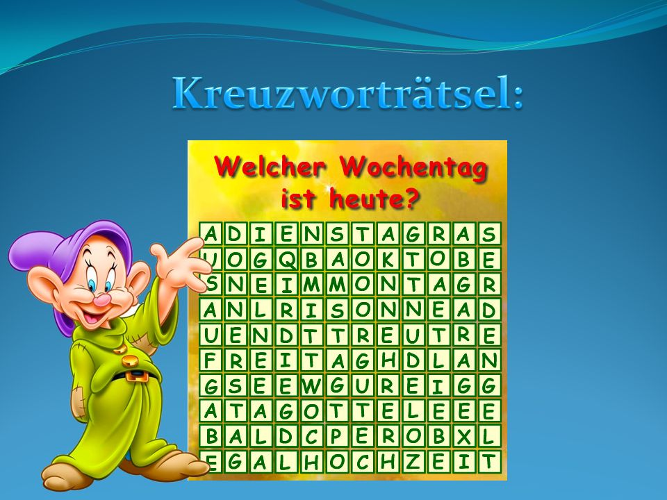 Kreuzworträtsel: