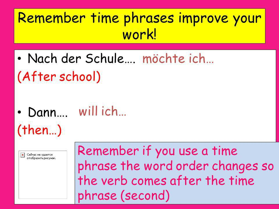 Remember time phrases improve your work!