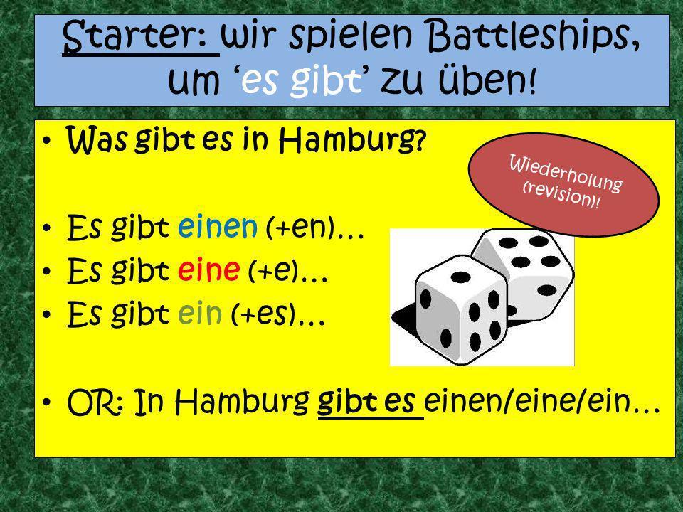 Starter: wir spielen Battleships, um 'es gibt' zu üben!