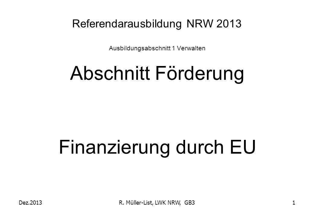 Referendarausbildung NRW 2013