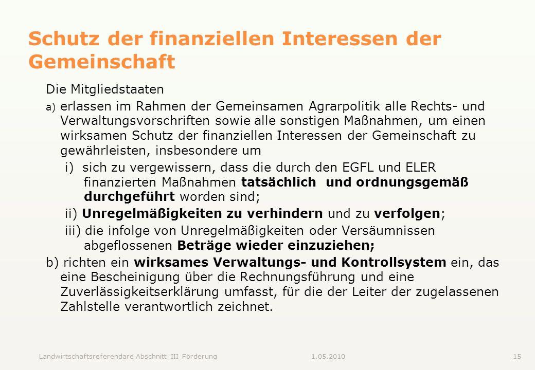 Schutz der finanziellen Interessen der Gemeinschaft