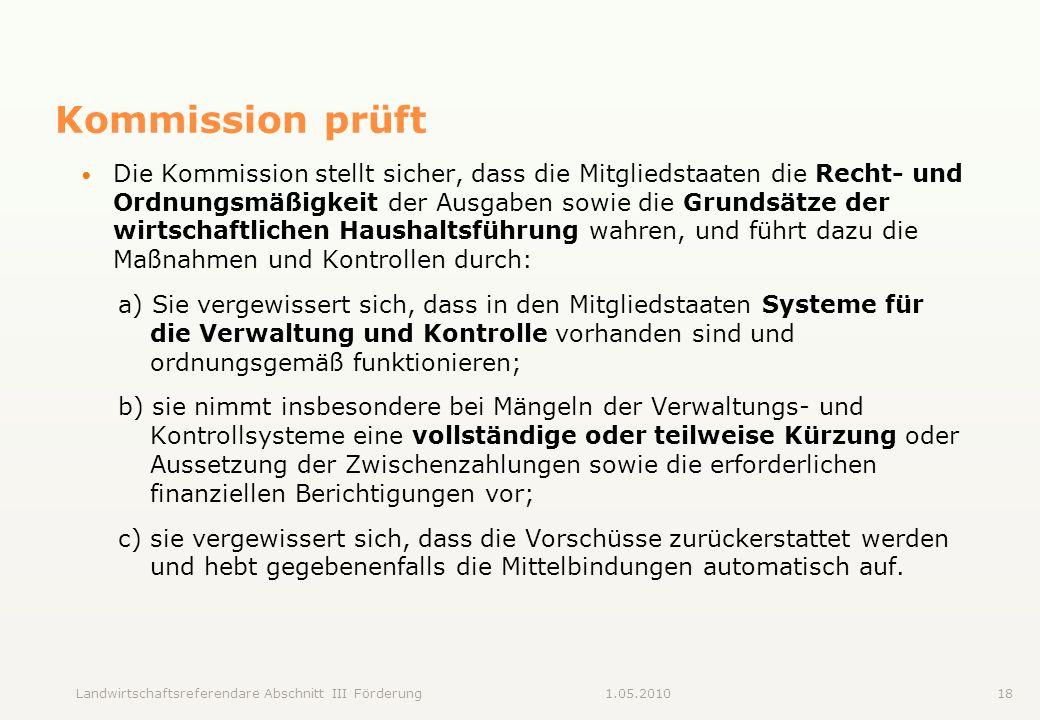 Kommission prüft