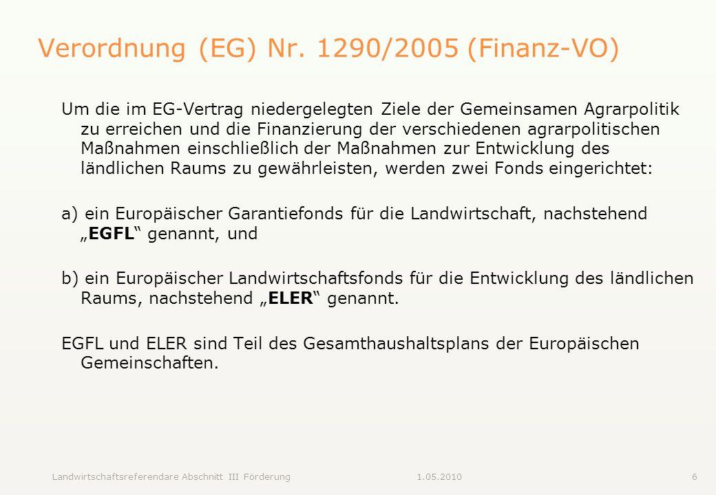 Verordnung (EG) Nr. 1290/2005 (Finanz-VO)