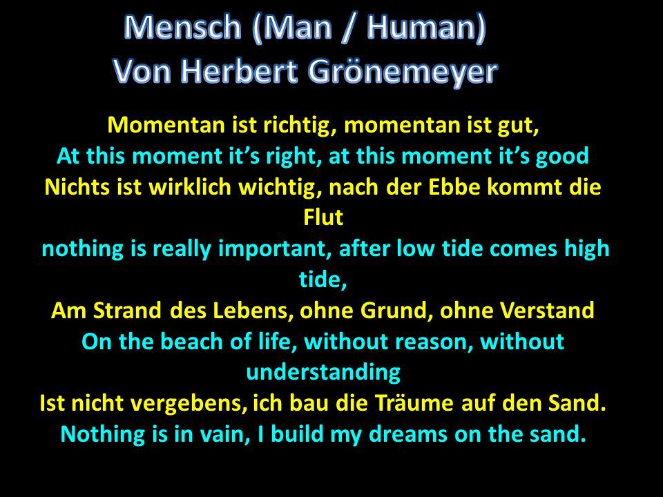 Mensch (Man / Human) Von Herbert Grönemeyer