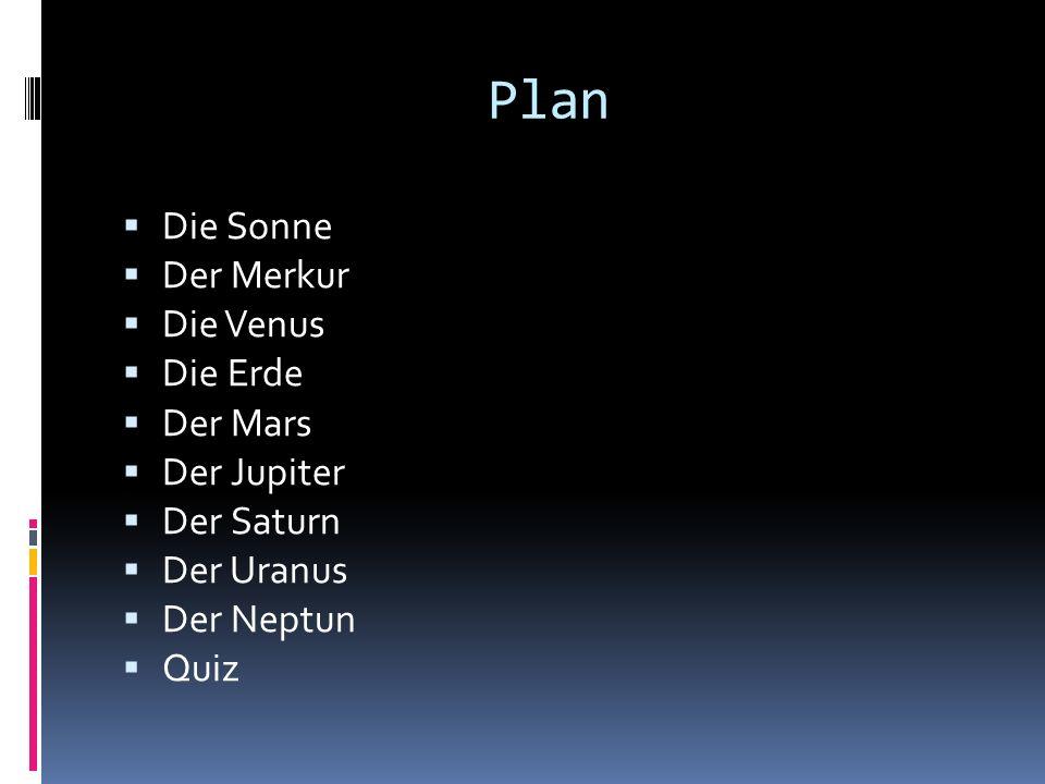 Plan Die Sonne Der Merkur Die Venus Die Erde Der Mars Der Jupiter