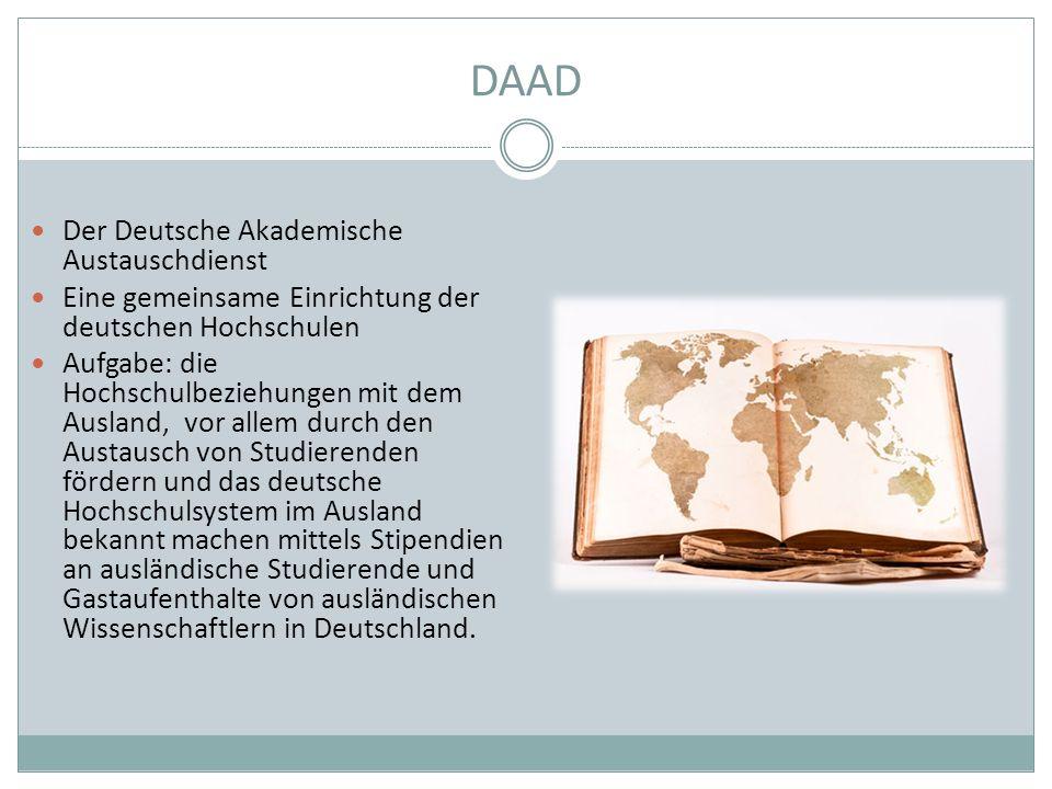 DAAD Der Deutsche Akademische Austauschdienst