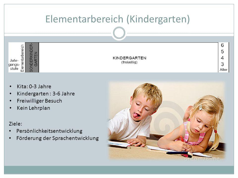 Elementarbereich (Kindergarten)