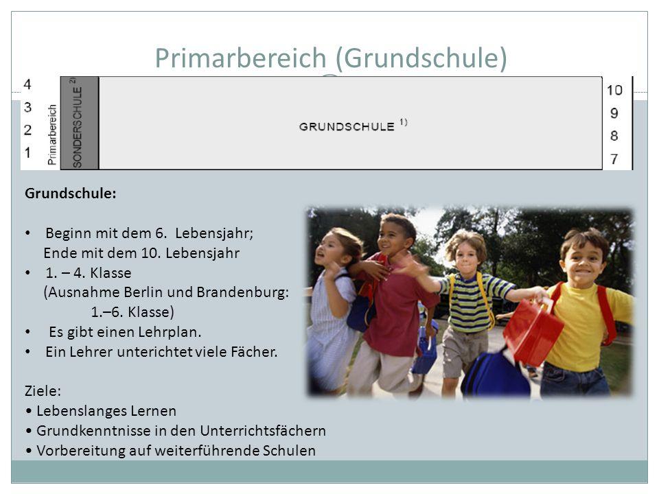 Primarbereich (Grundschule)