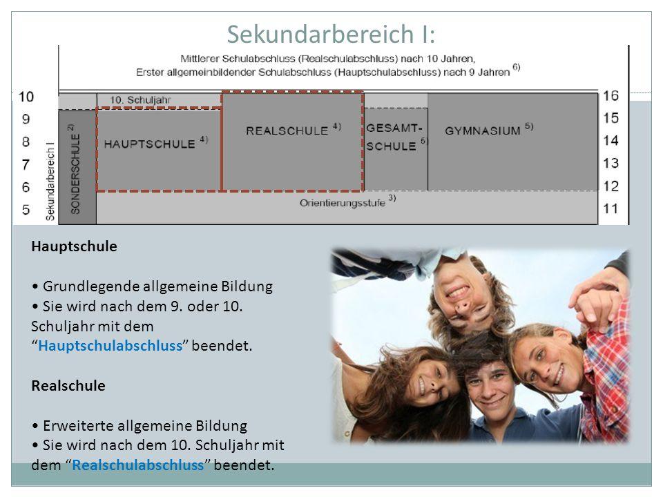 Sekundarbereich I: Hauptschule • Grundlegende allgemeine Bildung